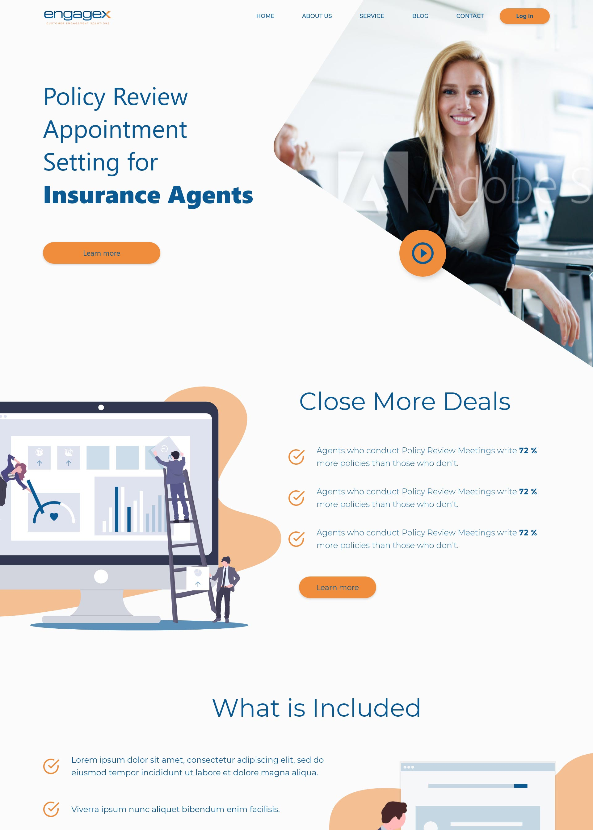 Homepage Concept for Engagex Appointments