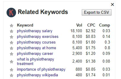 Keywords Everywhere Tool Related Keywords List in Google Search