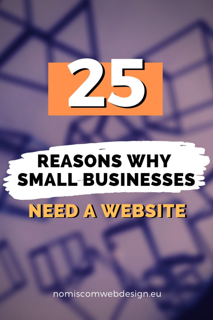 Why small businesses need a website pin image
