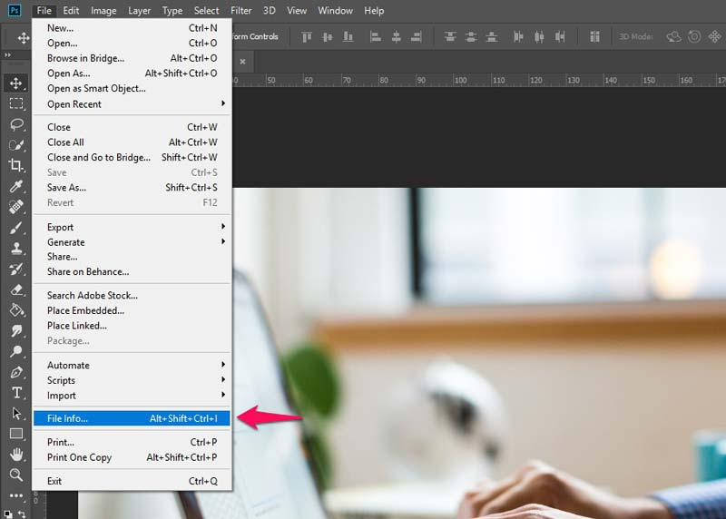 Edit Image Metadata in Photoshop