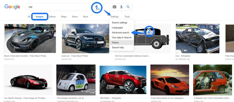 Google Image Search for Cars