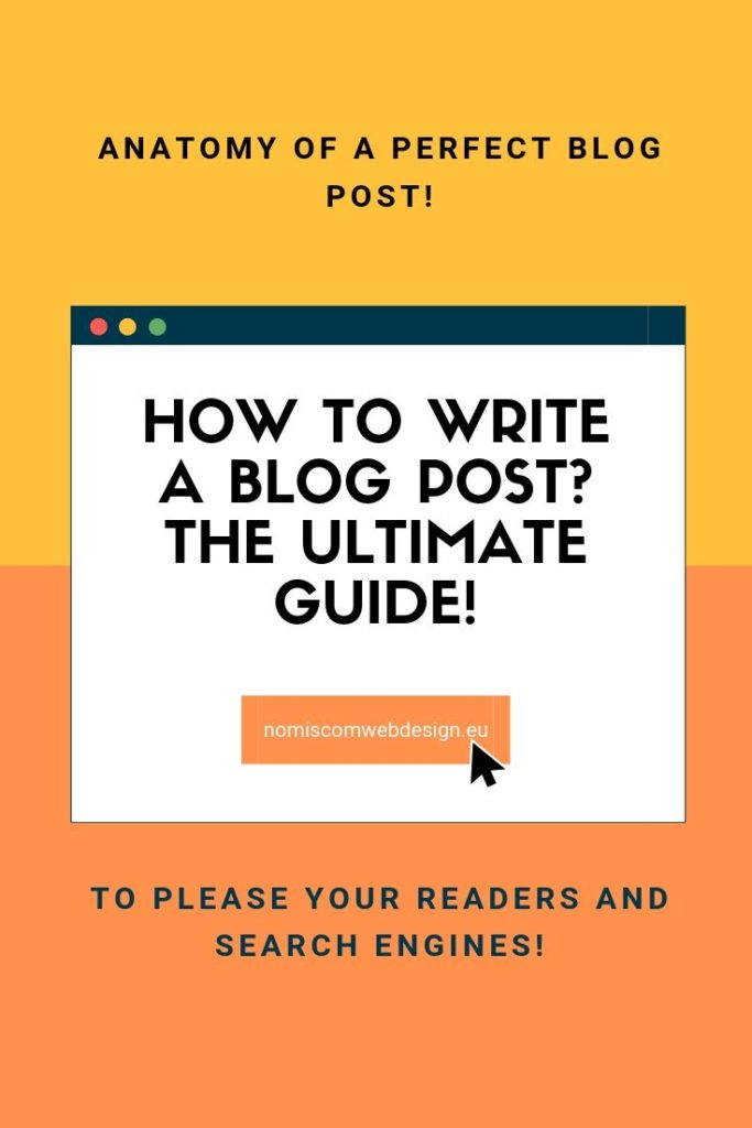 How to write a blog post pinterest pin image