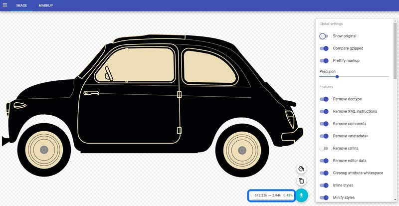 SVG Car Graphic Optimization
